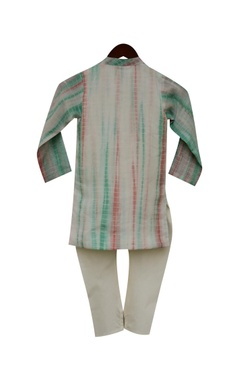 Cotton silk kurta & churidar
