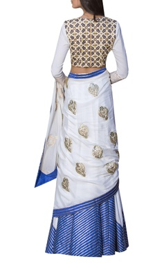 Applique work lehenga with blouse and dupatta