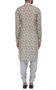 Chanderi turkish artistic printed kurta