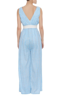 Printed jumpsuit with flower detail