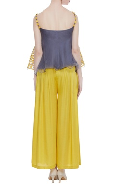 Hand embroidered top with flared pants