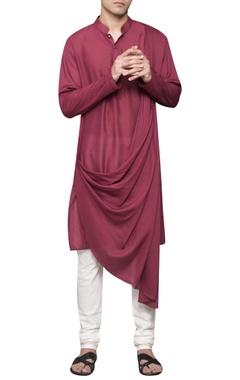 Sadan Pande - Men Cowl pleated kurta