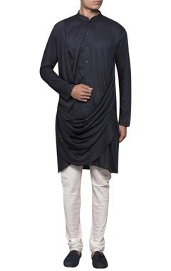 Sadan Pande - Men Draped kurta with button placket