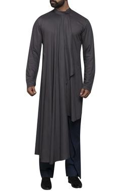 Sadan Pande - Men Straight kurta with drape front