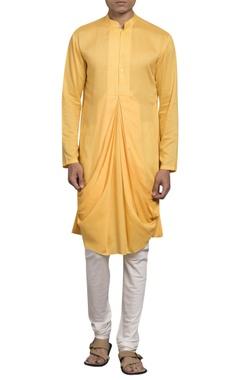 Sadan Pande - Men Drape front straight kurta