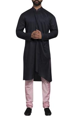 Sadan Pande - Men Front drape straight fit kurta