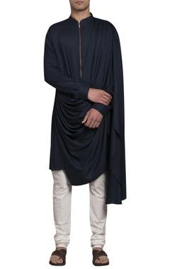 Sadan Pande - Men Drape kurta with zippered closure