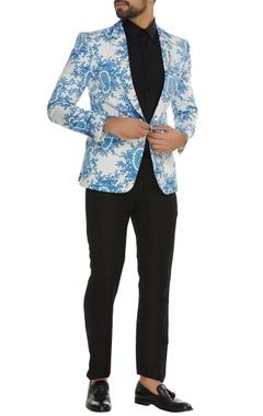 Paisley printed single breasted jacket