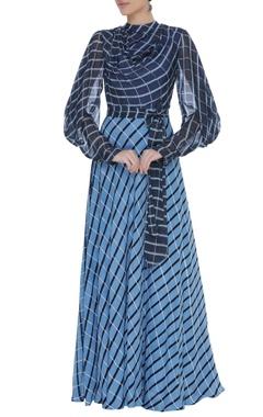 Block printed vintage maxi dress