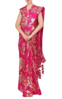 Nikasha Organza sequin sari with petticoat & blouse