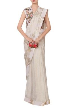 Nikasha Chiffon sari with hand painted blouse