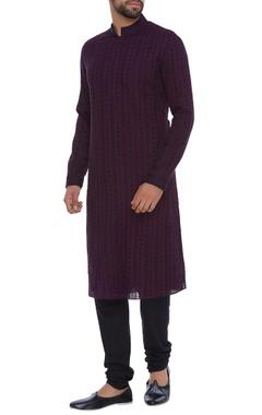 Bubber Couture - Men Striped kurta with churidar