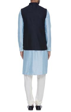 Reversible jacquard nehru jacket