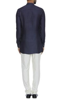 Criss cross embroidered short kurta