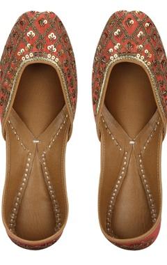 Vian Sequin jaal pattern pure leather mojiris