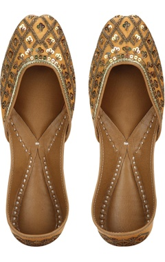 Vian Sequin encrusted mojiris with leather sole