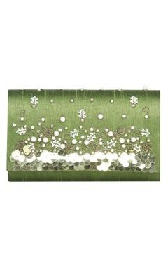 Vian Sequin & pearl embellished clutch