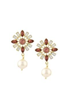CONFLUENCE - Crystals from Swarovski Suneet Varma floral shape drop earrings