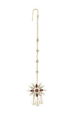 CONFLUENCE - Crystals from Swarovski Suneet Varma enchanted forest floral maangtikka
