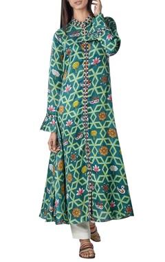 Swati Vijaivargie Flared long kurta with frill detail