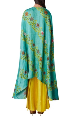High low printed kurta with flared pants