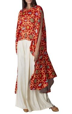 Swati Vijaivargie Printed high low kurta with pleated pants