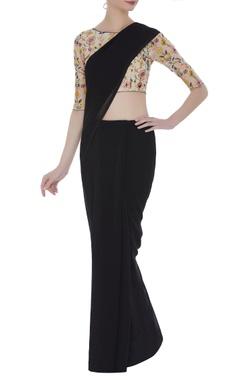 Hand embroidered sari blouse