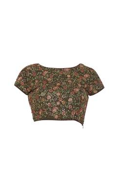 Textured & embroidered sari blouse