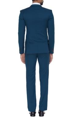 Self embroidered blazer jacket with pants