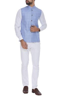Checkered nehru jacket