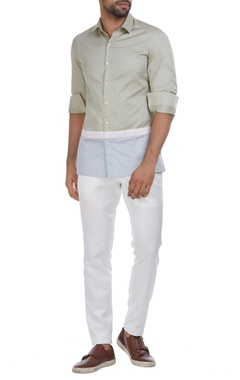Dual color panel style shirt
