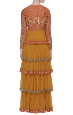 Tiered style sequin embroidered anarkali set
