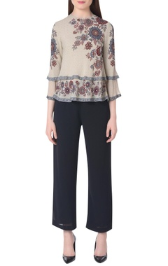 Namrata Joshipura Sand print double layer top