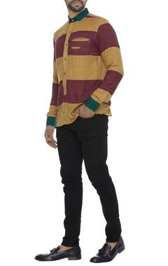 Dual color ahimsa silk shirt