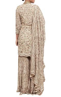 Jamavar floral embroidered kurta set