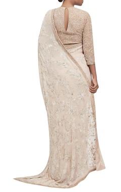 Chikankari hand embroidered sari with blouse