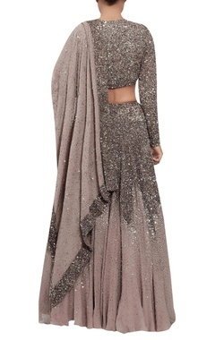 Sequin and swarovski stone lehenga set