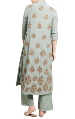 Embroidered kurta jacket with inner and pants