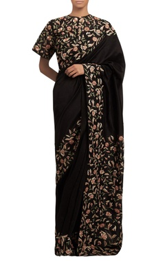 Nakul Sen Floral embroidered sari with blouse