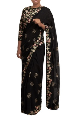 Nakul Sen Embroidered sari with blouse