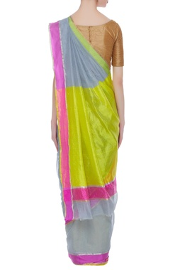 Handwoven pure chanderi sari & unstitched blouse