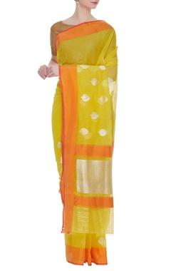 Sunshine banarasi cotton silk sari