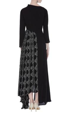 One side block printed dress