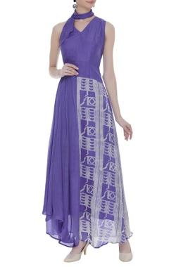Vedika M Asymmetric dress with neck tie up