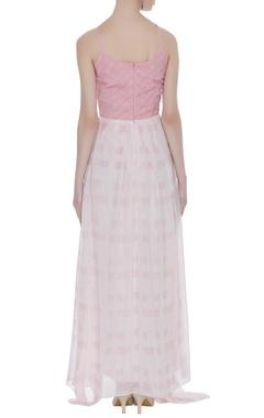 Textured asymmetric maxi dress