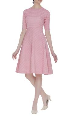 Vedika M Textured skater dress