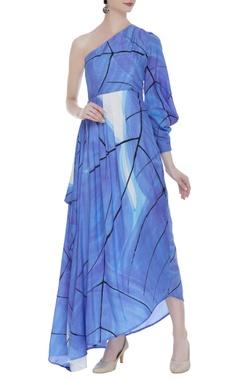Vedika M Hand painted asymmetric dress