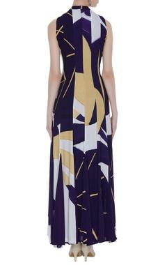 Hand printed georgette maxi dress