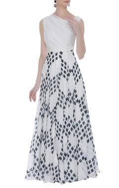 Vedika M Cowl printed maxi dress