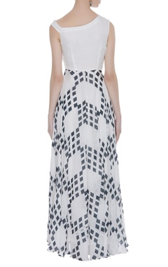 Cowl printed maxi dress